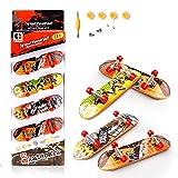 KETIEE Finger Skateboard 4 Pcs Professionelle Mini Griffbrett...