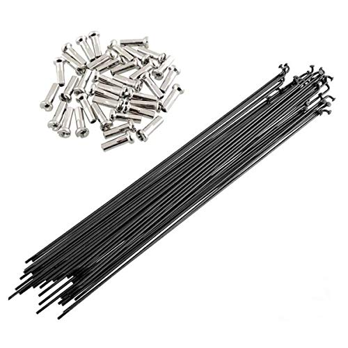 JieGuanG Bicycle Spokes 249mm Stainless Steel Cycling Spokes with Nipples Use for Mountain Bike 36 Pcs
