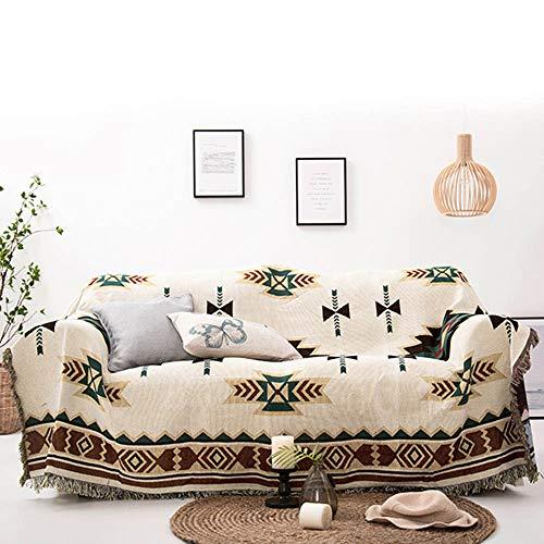 LouisaYork - Manta Protectora para sofá, Manta de sofá, cálida y Gruesa, Manta de Hilo de algodón Suave, Manta de Cama para sofá y sofá 130x180cm