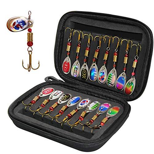 Mounchain Lot de 16 accessoires de pêche - Leurres de...