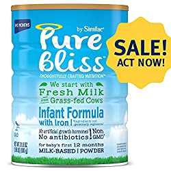 Pure Bliss by Similac Infant Formula, Modeled After Breast Milk, Non-GMO Baby Formula, 1.99 Pound (P