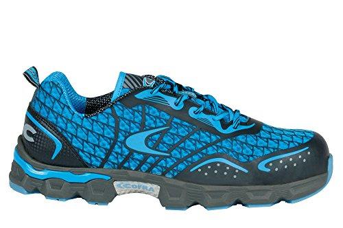 Cofra JE001–000.w43S1P SRC Taglia 43'calcio basso scarpe di sicurezza, Blu