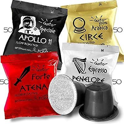 Caffe POMPEII - POMPRESSO - Nespresso Compatible Coffee Capsules for All Nespresso Original Line Machines (VARIETY 4, 200 capsules)