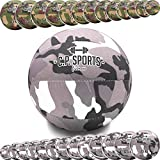 C.P. Sports - Balón medicinal de camuflaje militar, color verde oliva o blanco, de 0,5 a 15 kg, para deporte, fitness, musculación, crossfit, rehabilitación, 3 kg, color blanco