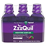 ZzzQuil Nighttime Sleep-Aid - Berry Flavor - 12 fl. oz - 3 pk. by ZzzQuil, Cherry
