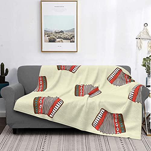 Manta con diseño de acordeón de microfibra ultrasuave, suave, acogedora y cálida manta de franela para sofá, oficina, playa, 60 x 50 pulgadas