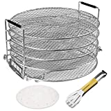 Benooa Dehydrator Rack for Ninja Foodi,Stainless Steel 5 Tier Dehydrator Stand&Parchment Paper Compatible With Instant Pot Duo Crisp(6.5qt-8qt) for Fruits Vegetable Beef