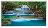 Könighaus Bildheizung (Infrarotheizung mit hochauflösendem Motiv) 5 Jahre Garantie (130-Kanchanaburi Wasserfall Thailand)