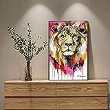 Puzzle 1000 piezas Pintura decorativa animal león acuarela en Juguetes y juegos Gran ocio vacacional, juegos interactivos familiares Rompecabezas educativo de juguete para ali50x75cm(20x30inch)