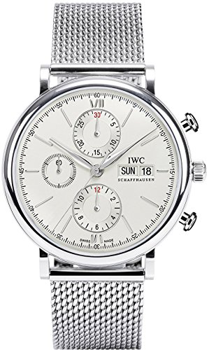 IWC MEN'S PORTOFINO 42MM STEEL BRACELET & CASE AUTOMATIC ANALOG WATCH...