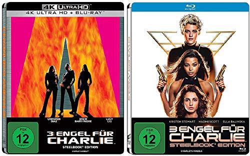 3 Engel für Charlie Steelbook 2000 [4K Ultra HD + 2D Blu-ray] + 3 Engel für Charlie Steelbook 2020 [Blu-ray]