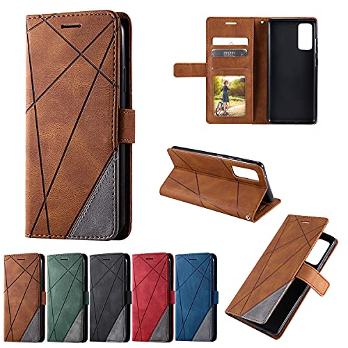 Cartera de lujo caso PU cuero ranuras para tarjetas titular Flip cubierta para Samsung Galaxy (marrón, Samsung J530(J5 2017Europe?)