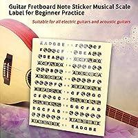 楽器指板スケールラベル 楽器スケールステッカー フレットボードステッカー ギタースケールステッカー 学習ツール 成人学習者