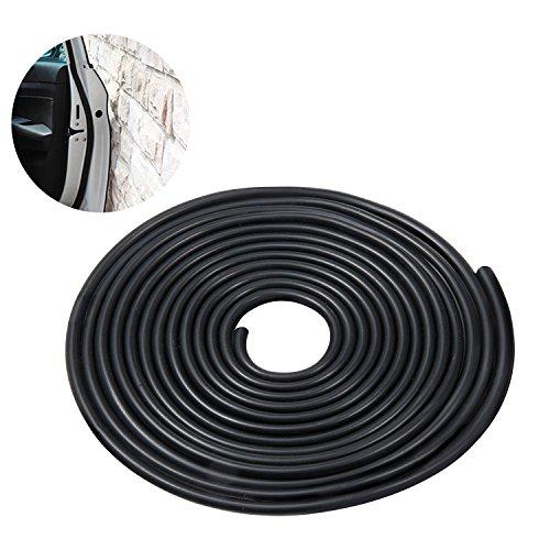 Diealles Protector de Puerta de Coche Goma Borde de Coche Caucho Sello Protección - Negro (5M)