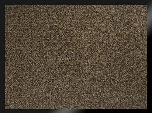 ID MAT 608005 Mirande - Tappeto zerbino in Fibre Nylon e PVC, gommato 80x 60x 0,9cm, Marrone, 60 x 80 cm
