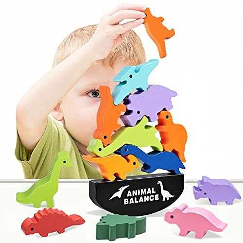 HahaGift Dinosaur Toys for Kids 3-5 Year Old Boys Gifts, Wooden...