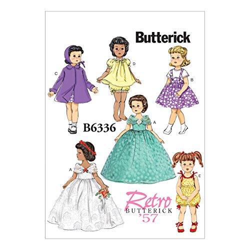 Butterick Schnittmuster 6336OSZ Puppe Kleidung nähen Muster, 18