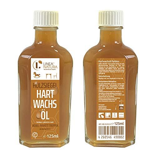 LINEA NATURA® Hartwachsöl | Möbelöl | Treppenöl | Hartwachs Holzöl farblos (125ml)