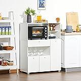 Immagine 1 homcom mobile cucina per microonde