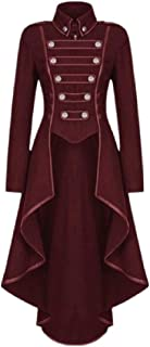 جاكت نسائي طويل من OTW مطبوع عليه عبارة Renaiss، Steampunk Gothic Tailcoat Victorian