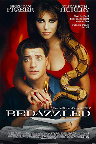 BEDAZZLED (2000) Original Authentic Movie Poster 27x40 - Single-Sided - Elizabeth Hurley - Brendan Fraser - Frances O'Connor - Orlando Jones