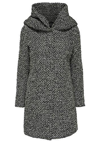 Only Damen Mantel Onlindie Sedona Petit Long Wool Coat, Größe:L;Farbe:Dark Grey Melange