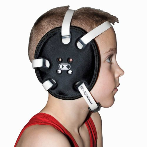 Cliff Keen Youth Signature 4-Strap Stock Wrestling Headgear - Black