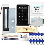 Kit de Sistemas de Control de Acceso, combinación de Cerradura de Puerta de Seguridad para el hogar con Cerradura magnética eléctrica de 180 kg 110-240V CA a 12v CC 3A 36w Fuente de alimentación