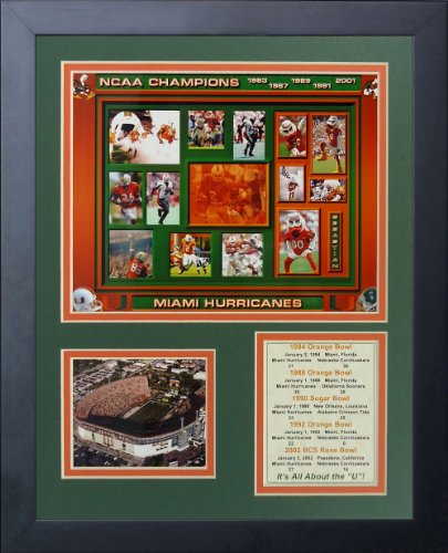 Ray Lewis University of Miami Hurricanes NCAA Double Matted 8x10 Photograph Celebrating