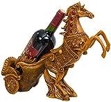 LIANYANG estantes de Vino de pie Creativo,Soporte de Botella de Vino,Escultura de Resina,Sala de Estar Vintage,Estante de Botella deVino Gratis deMesa (38x14x31.5cm),imitación Madera