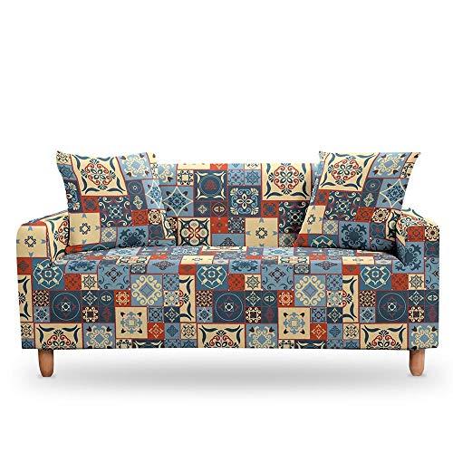 Vlejoy Sofabezug Stretch Mandala Sessel Sofabezüge Ethnische Sofadekoration Elastische Sofabezüge Für Wohnzimmer-1-Sitzer (90-140cm) _Color-T