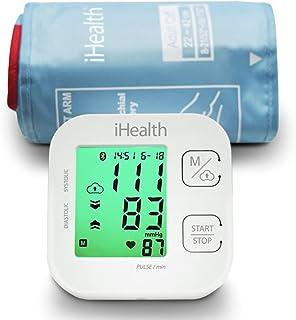 Track iHealth مانیتور بیسیم فشار خون بیرون از بالون با کلاهبرداری وسیع، مانیتور فشار خون بلوتوث سازگار با دستگاه های Apple و Android، مانیتور فشار خون اتوماتیک، FDA پاک شده
