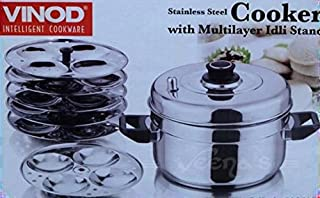 Vinod Stainless Steel Cooker with 6 Layer IDLI Stand