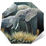 Ombrello pieghevole pieghevole Elefante impermeabile-parasole-Auto Open&Close (colla nera)