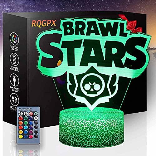 3D ilusión LED noche lámpara Brawl Stars regalo perfecto para niños y habitación decoración personajes Darth Vader