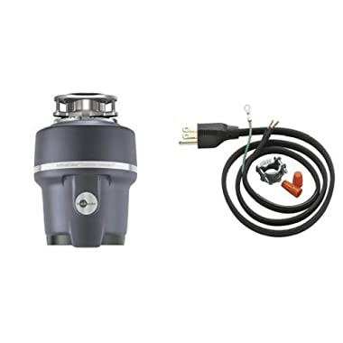 InSinkErator Evolution Compact 3/4 HP Household Garbage Disposer and Power Cord Kit Bundle