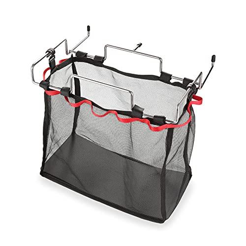 LXW Supporto per Borsetta in Metallo, Campeggio all'aperto Campeggio Portatile Rete Rack - Borsa da Cucina Sacchetto di plastica Borse immondizia Rack di stoccaggio