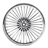 TARAZON 21X3.5 36 Fat Spoke Front Wheel, for Harley Touring Bagger 2009-2020 Road King Street Glide Road Glide Ultra Limited Dual Disc