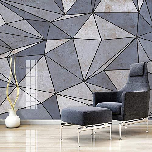 Brauch 3D-Fototapete Für Wände Graue Geometrische Linien Quadratisches Wohnzimmer Sofa Tv Hintergrund Wanddekoration Gemälde Wandbild,350 * 256Cm