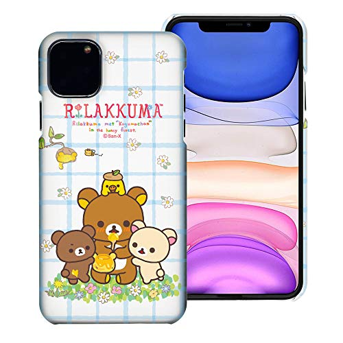 Compatible with iPhone 12 Pro Max Case (6.7inch) [Slim Fit] Rilakkuma Thin Hard Matte Surface Excellent Grip Cover - Rilakkuma Honey