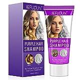 J TOHLO Purple Shampoo Blonde Shampoo Puede Eliminar el Tono Amarillo Cobrizo y Aclarar el Rubio Platino Dorado Gris...