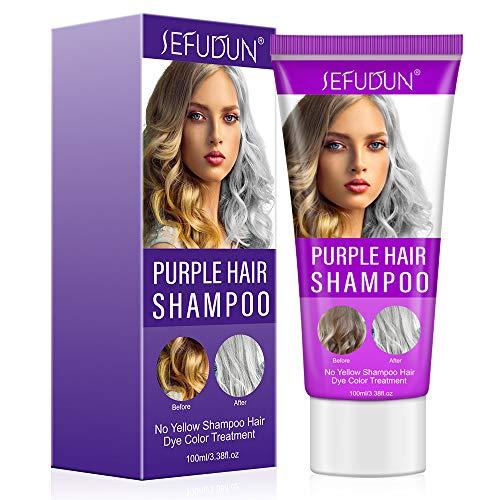 J TOHLO Purple Shampoo Blonde Shampoo Puede Eliminar el Tono Amarillo Cobrizo y Aclarar el Rubio Platino Dorado Gris Ahumado Plata y Ceniza De Parabenos Tinte Para el Cabello Sin Sulfato