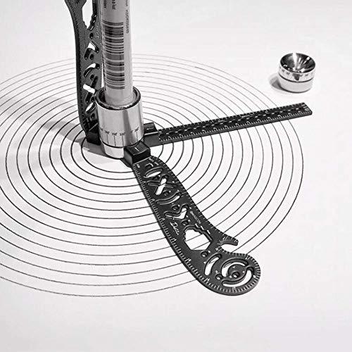 SFASTER Multifunktions-Magcon Zeichnungs-Werkzeug, vielseitiges Zeichnen, gebogenes magnetisches Lineal, Mini-Kompass, Winkelmesser, Metallic-Zeichnung, Magcon-Werkzeug, Kurvenschablone, Lineal,