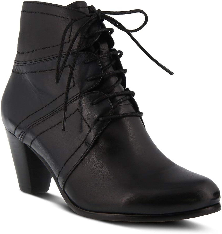 Spring Step Women's Hilde Bootie   color Black Multi   Leather Bootie