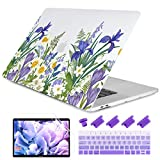 Dongke MacBook Pro 13 inch Case 2019 2018 2017 2016 Release A2159 A1989 A1706 A1708, Meadow & Floral Frosted Matte Hard Shell Cover & Keyboard Cover Compatible with MacBook Pro 13' with/Out Touch Bar