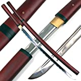 Ace Martial Arts Supply Handmade Japanese Shirasaya Samurai Katana Sharp Sword-Musha
