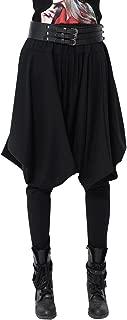 ellazhu Women Casual Loose Baggy Elastic Waist Harem Pants Trousers GY508