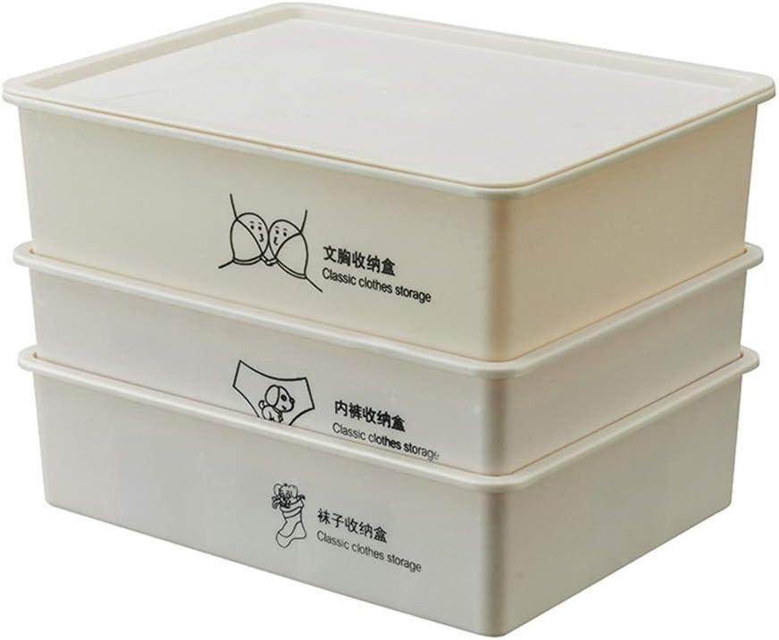 ZPTECH Limited Special Price Max 81% OFF Drawer Organizers 3PCS Set Wardrobe f Storage Box Plastic