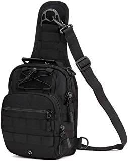 VISDOLL Outdoor Tactical Backpack, Military Sport Pack Daypack Chest Pack for Camping Hiking Trekking