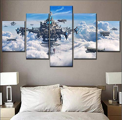【★Size】: Approx. 200x100 cm / 78,8 x 39.4 inches-5 pcs. 40x60 40x80 40x100 40x80 40x60 cm non-woven canvas picture ---- (This product does not have a frame, please purchase the frame yourself) ¤TECHNOLOGY AND QUALITY: The canvas is made using modern ...